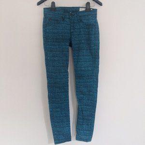 Rag & Bone Blue Tweed Print Denim Legigngs